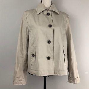 MaxMara Weekend Short Cotton Khaki Trench Coat